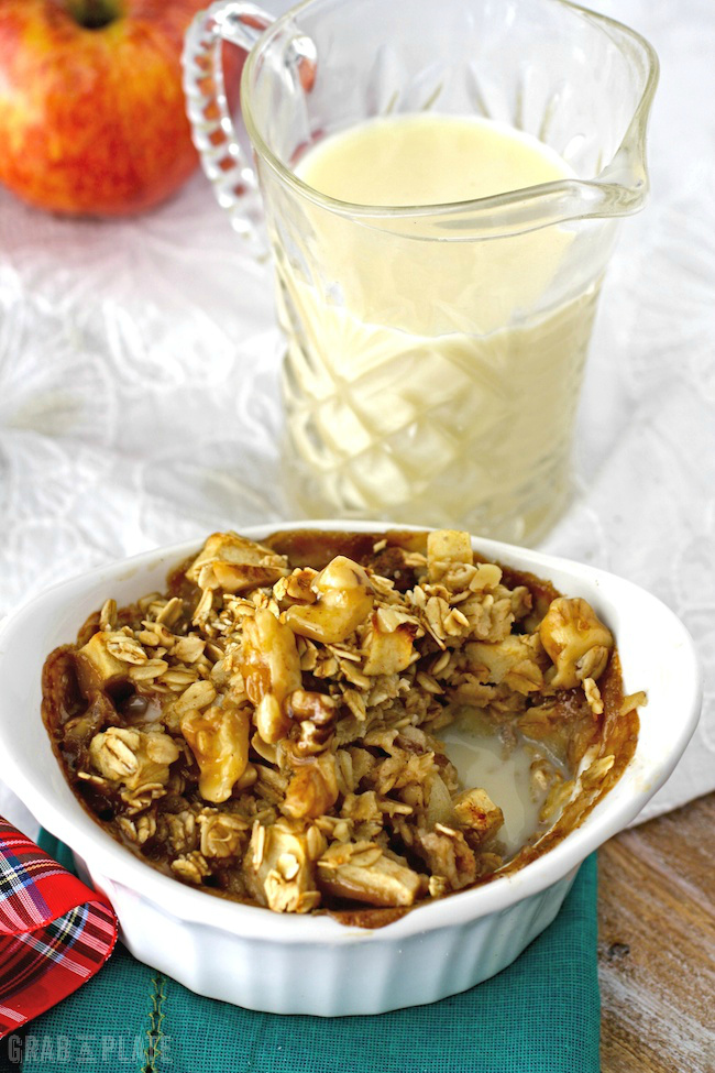 Extra eggnog with Baked Eggnog Oatmeal with Apples and Walnuts