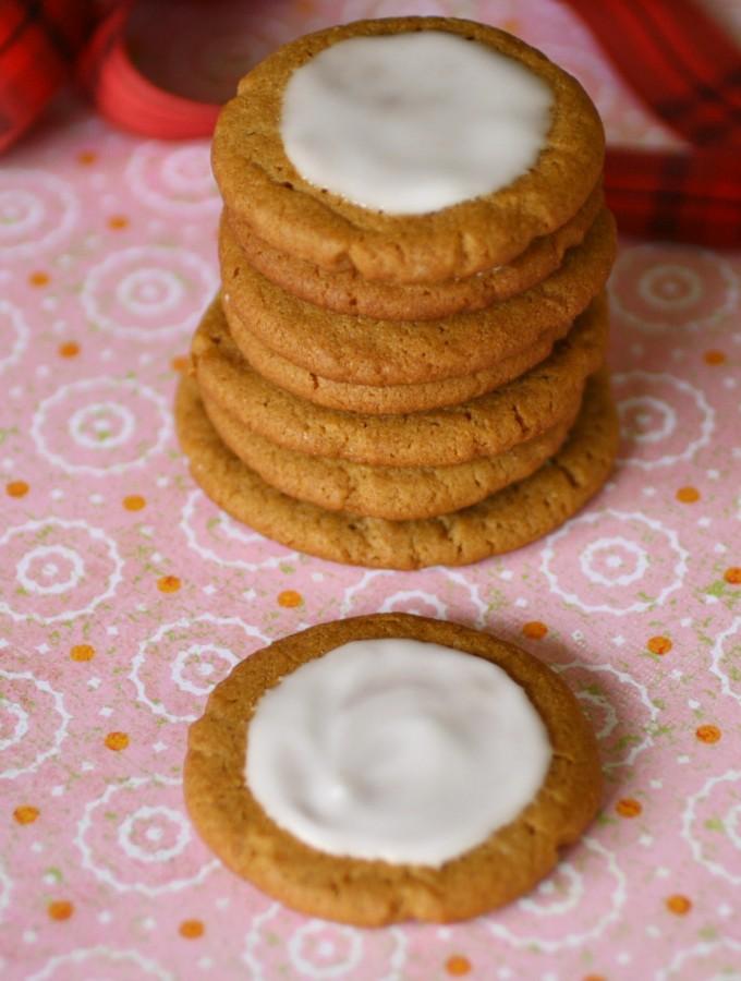 Lemon Iced Gingersnap Cookies <br>(Gluten Free)