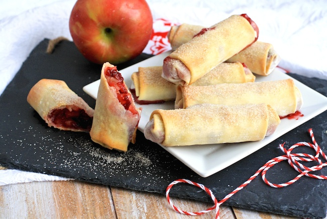 Cranberry-apple Pie Spring Rolls include juicy fruit