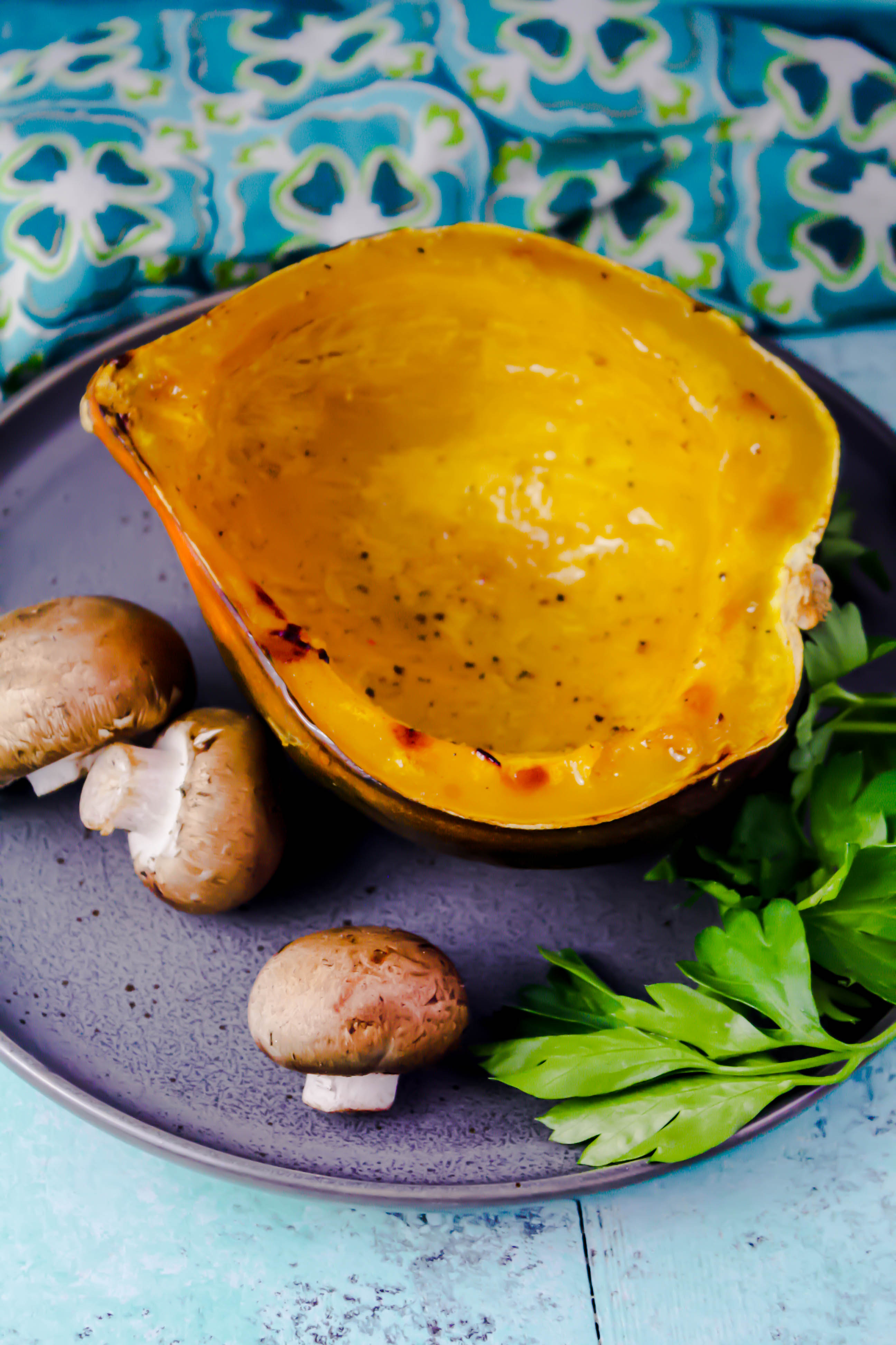 Acorn Squash Stuffed with Brown Rice, Mushrooms, and Cranberries makes a tasty dish for any winter meal. Acorn Squash Stuffed with Brown Rice, Mushrooms, and Cranberries is a delightful dish everyone will love.