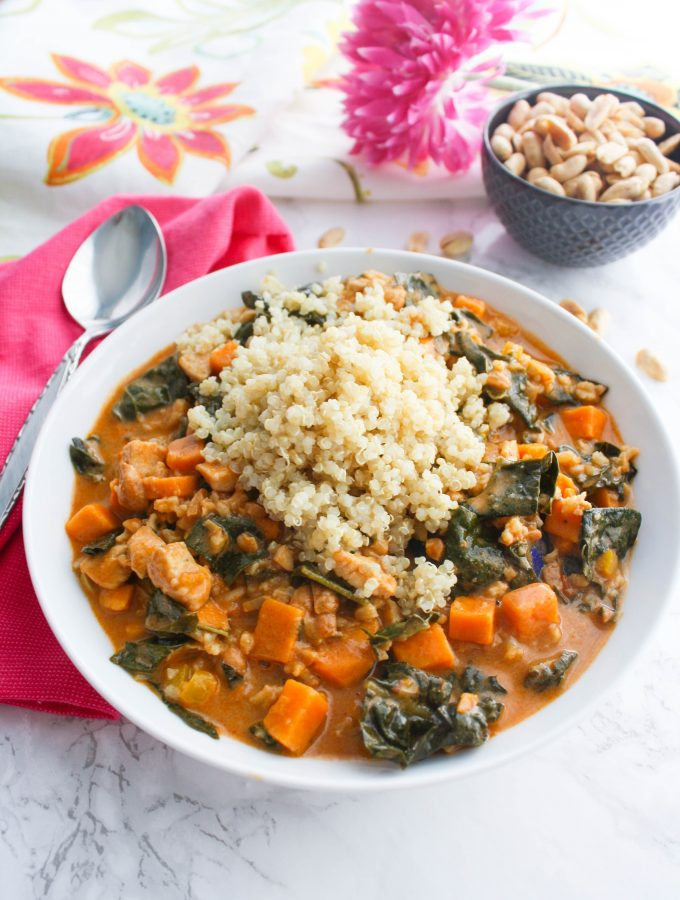 West African Peanut Stew is a delightful dish. You'll love the seasonings and colors of West African Peanut Stew.