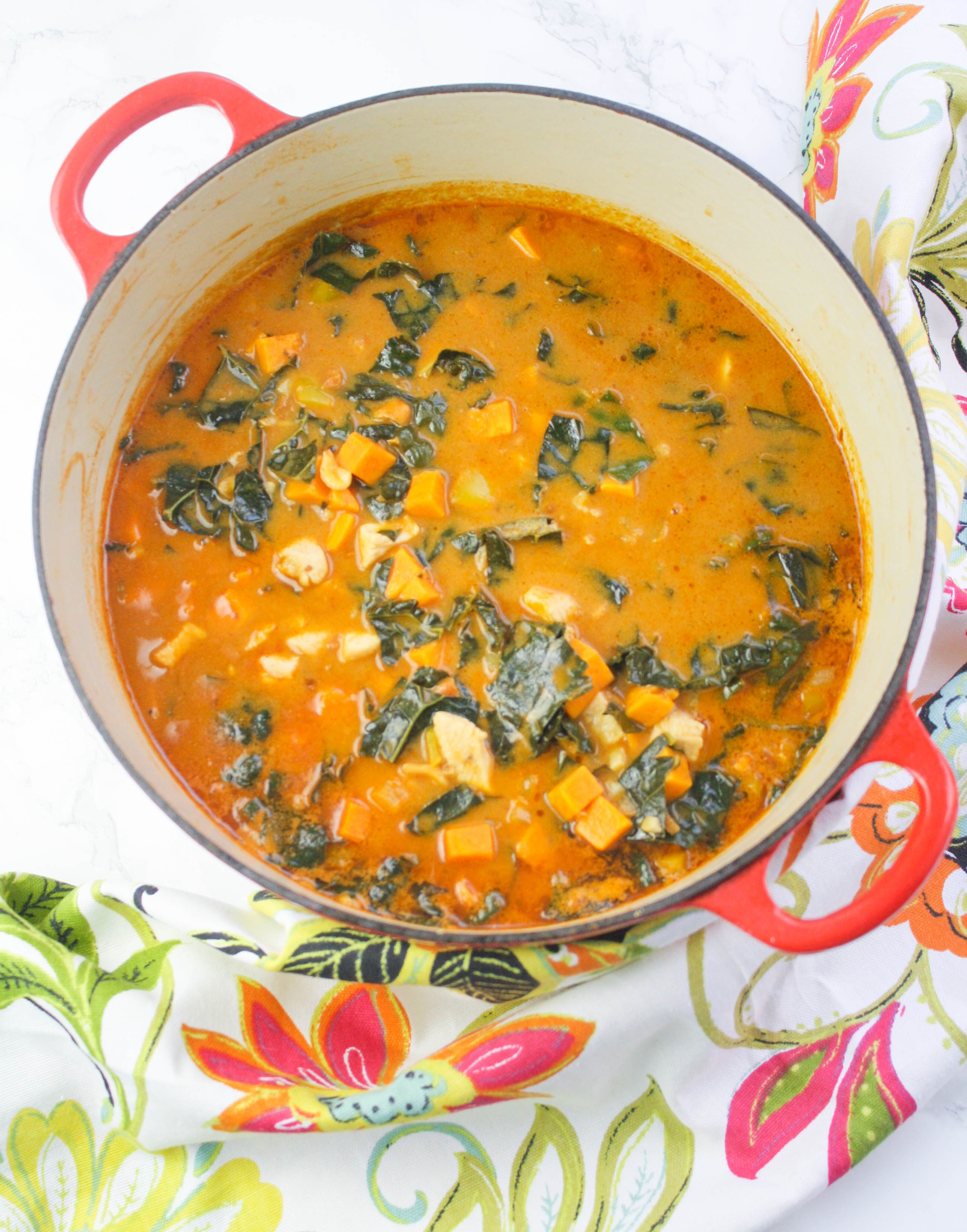 West African Peanut Stew is a delicious dish for a cold night. Grab your big pot to make a batch of West African Peanut Stew.