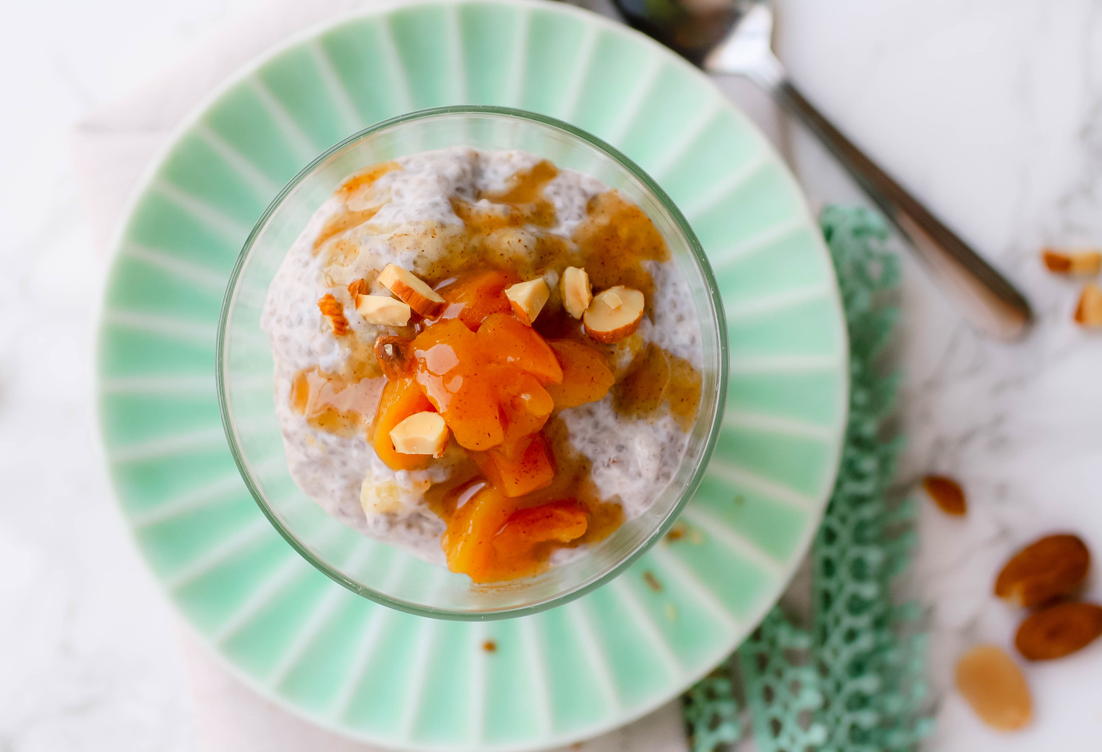 Almond-Apricot Breakfast Chia Pudding is an easy, make-ahead meal. Almond-Apricot Breakfast Chia Pudding is a tasty breakfast option.