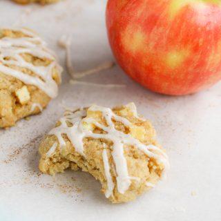 Apple Pie Cookies with Cinnamon Glaze will be your new favorite cookie! Apple Pie Cookies with Cinnamon Glaze make a fun and festive dessert!
