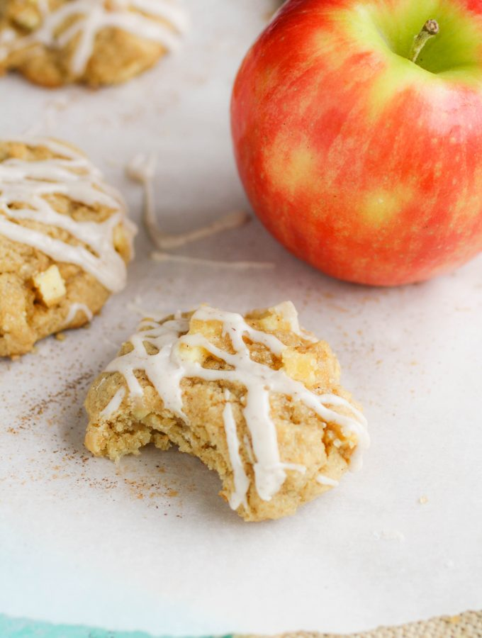 Apple Pie Cookies with Cinnamon Glaze