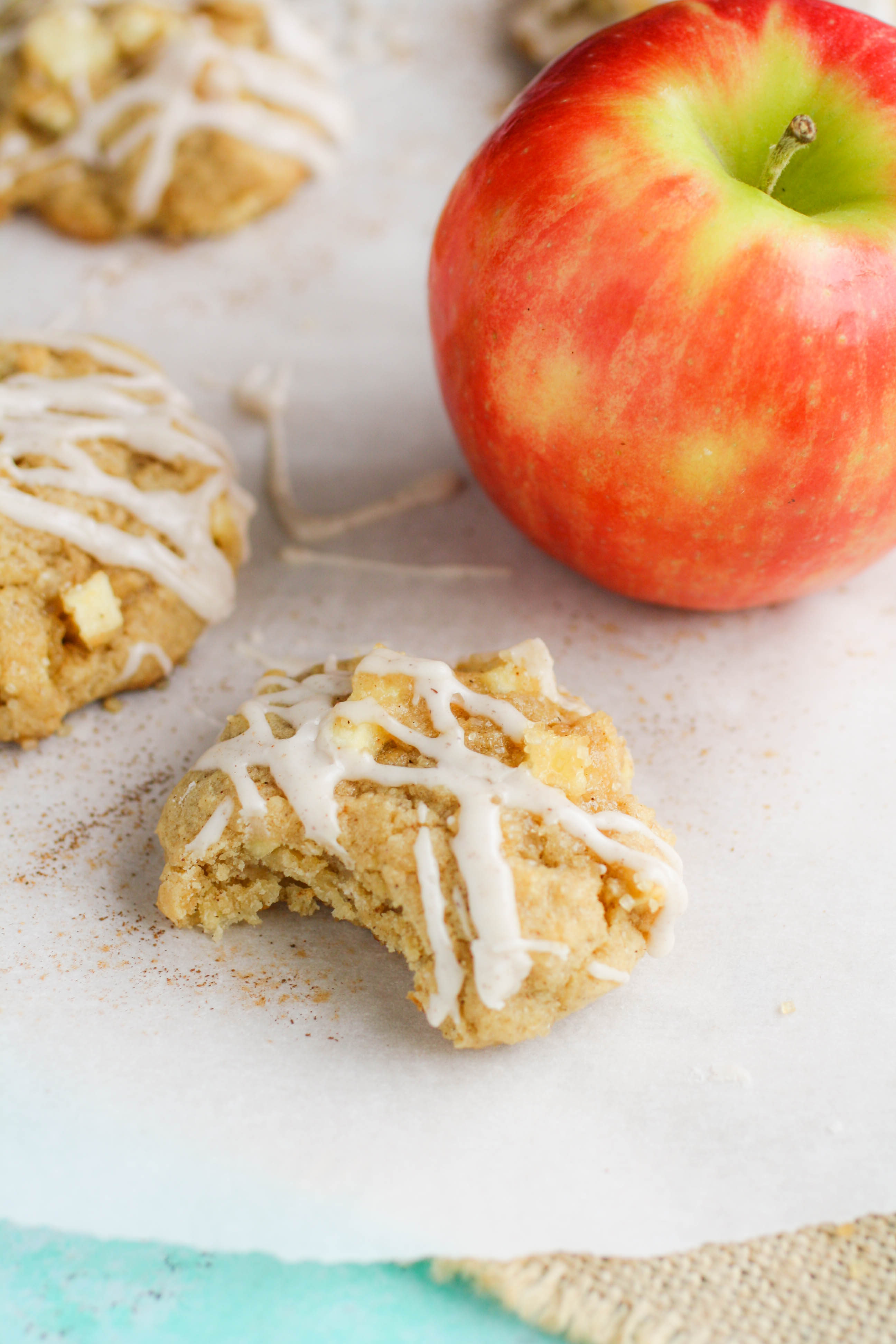Apple Pie Cookies with Cinnamon Glaze will be your new favorite cookie! Apple Pie Cookies with Cinnamon Glaze make a fun and festive dessert!
