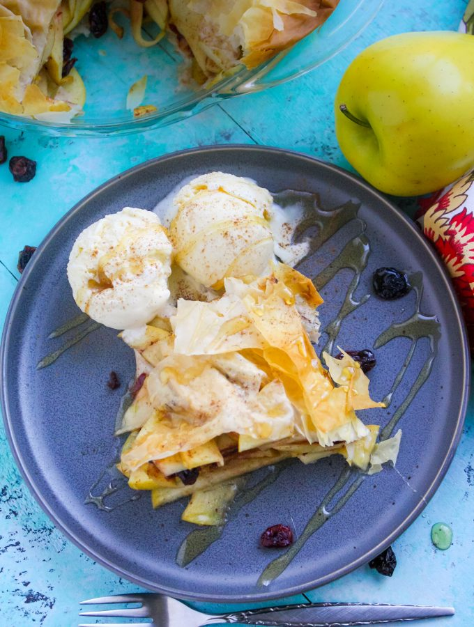 Apple-Cranberry Tart in Phyllo is a treat you'll love to make! Apple-Cranberry Tart in Phyllo is a tasty dessert for sure!