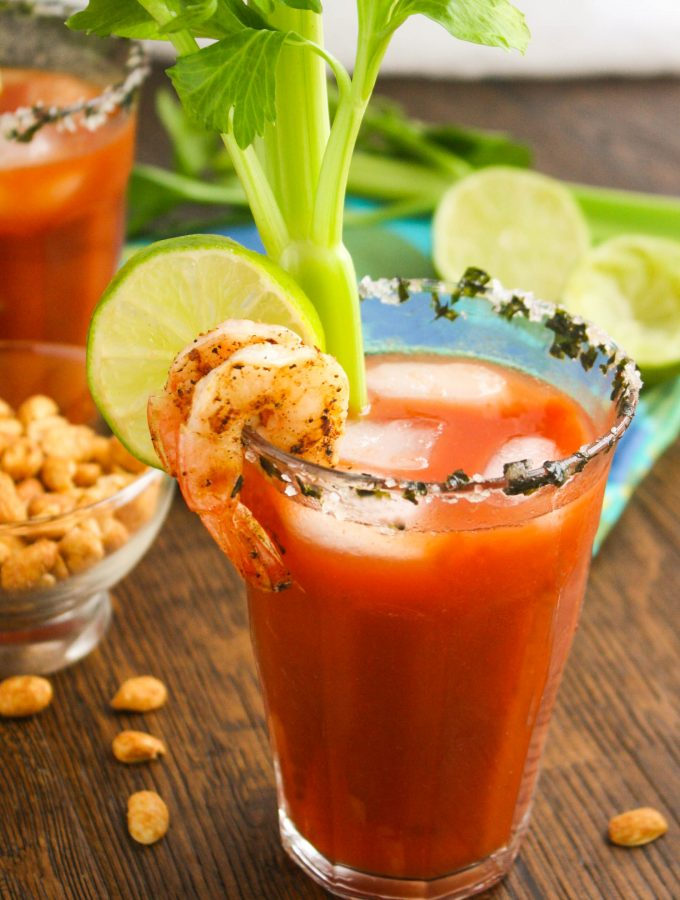 Asian Bloody Mary Cocktails are a fun way to kick off the weekend! You'll love the flavors combined in this cocktail!
