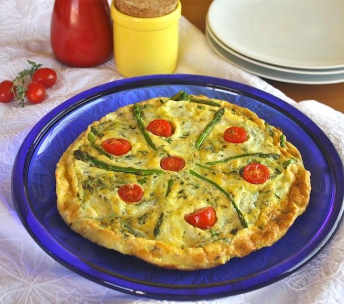 Asparagus and Asiago Frittata