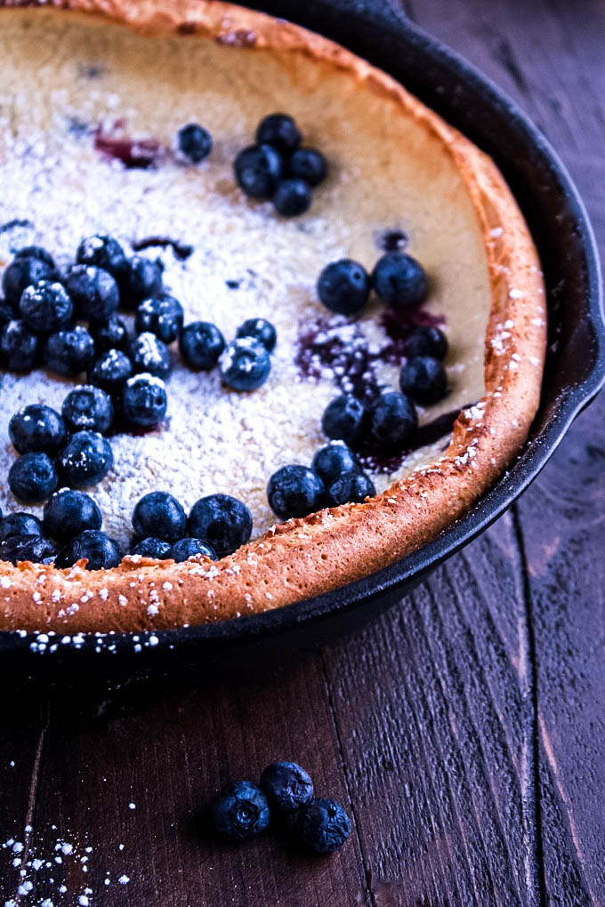 Blueberry Dutch Baby is the perfect breakfast dish for the weekend. You'll love Blueberry Dutch Baby Pancake for a special brunch.