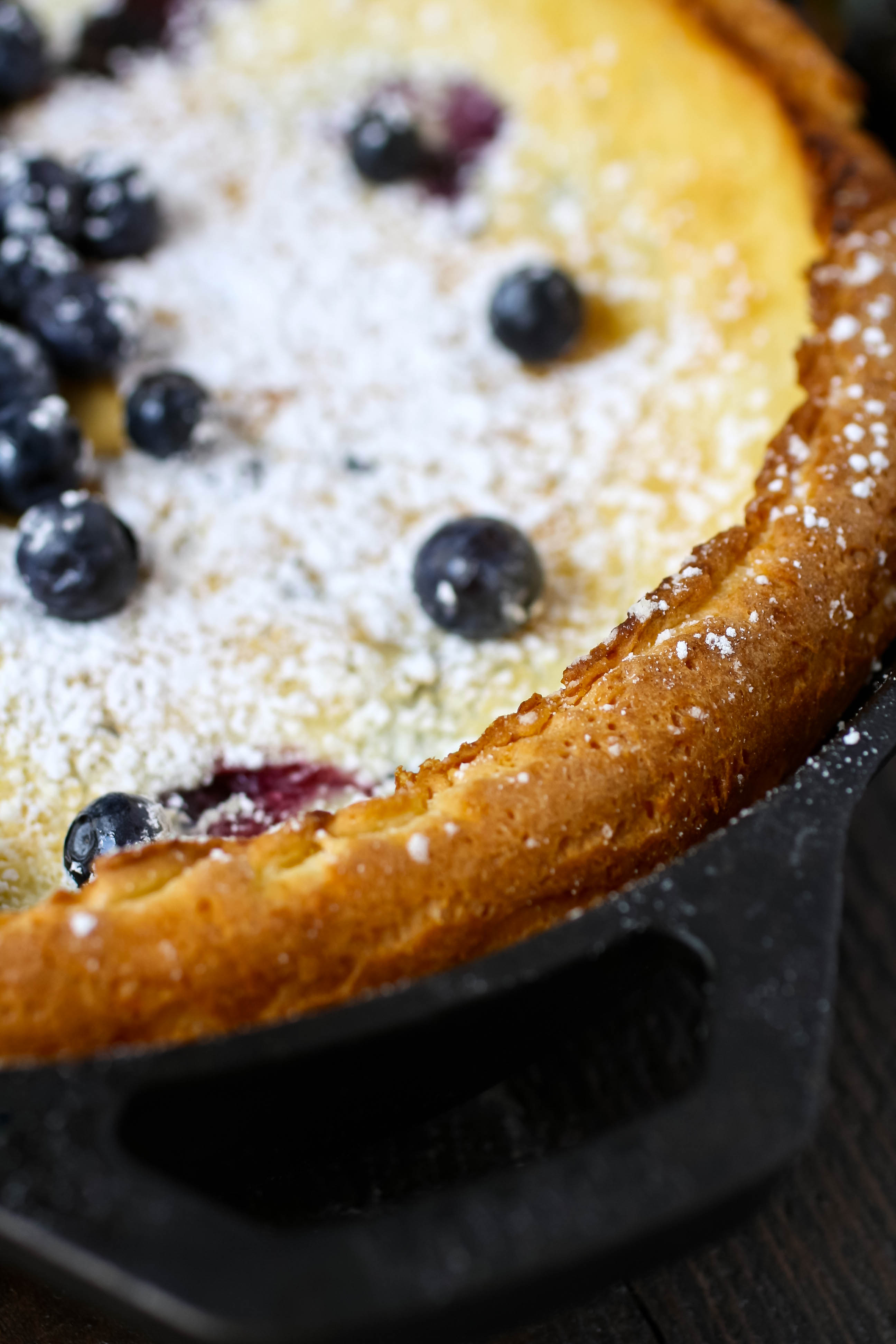 Blueberry Dutch Baby Pancake is a delight for a special breakfast or brunch like Mother's Day. Blueberry Dutch Baby Pancake makes a lovely breakfast treat.