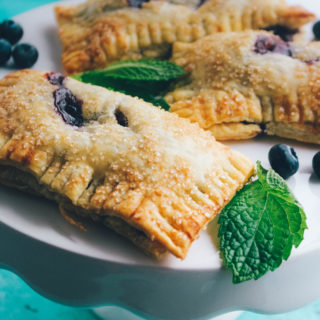 """Blueberry Mint Hand Pies need to be on your summer """"must-make"""" dessert list!"""