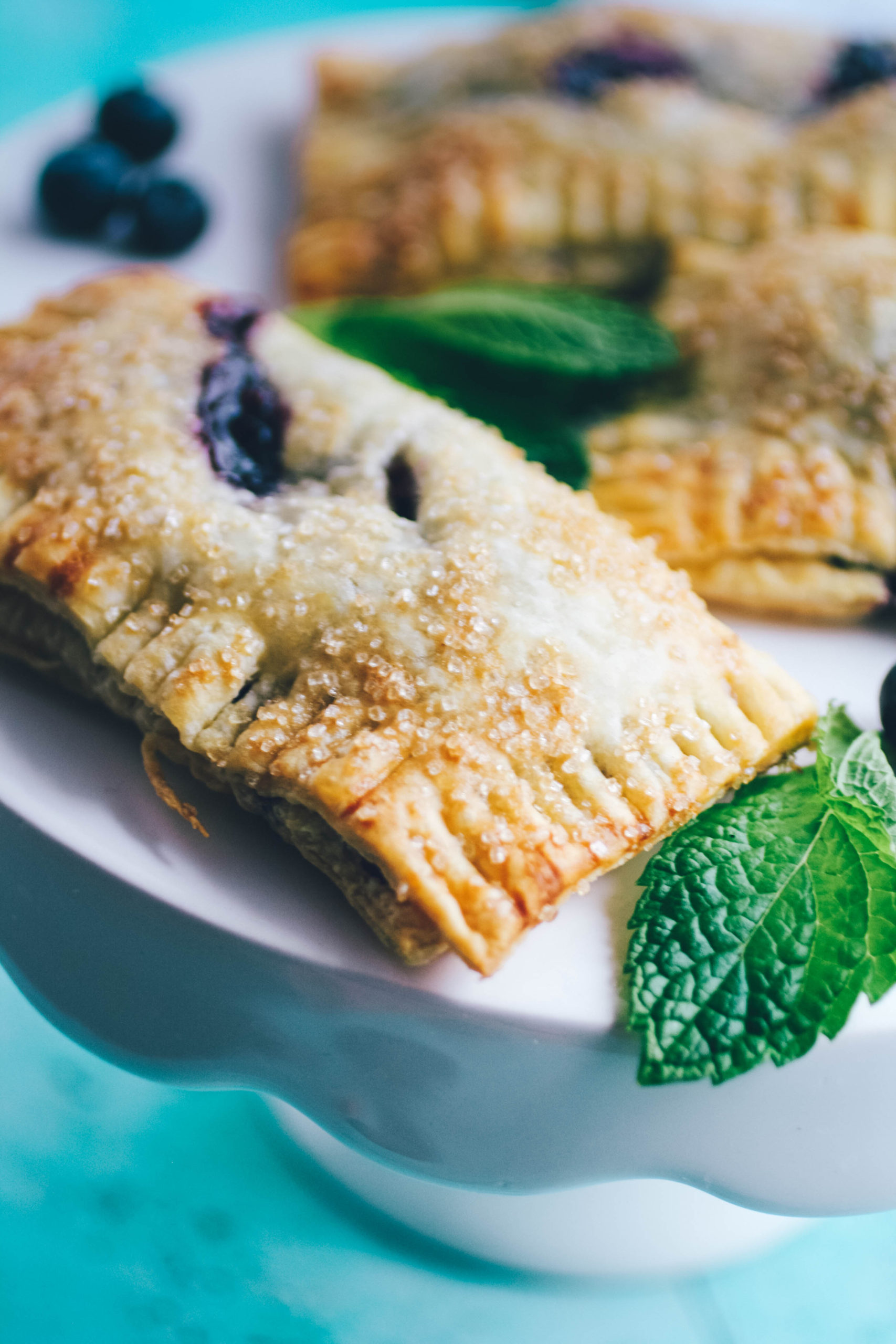 A plateful of Blueberry Mint Hand Pies is an ideal way to end any meal!