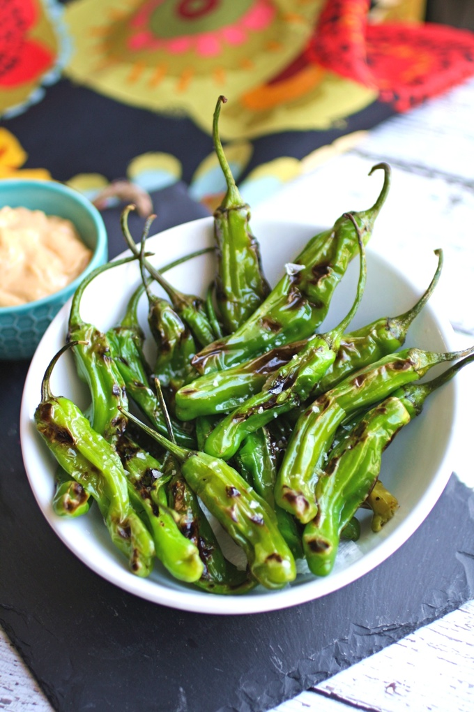 Shishito Peppers with Smoky Paprika Aioli make a fantastic appetizer!