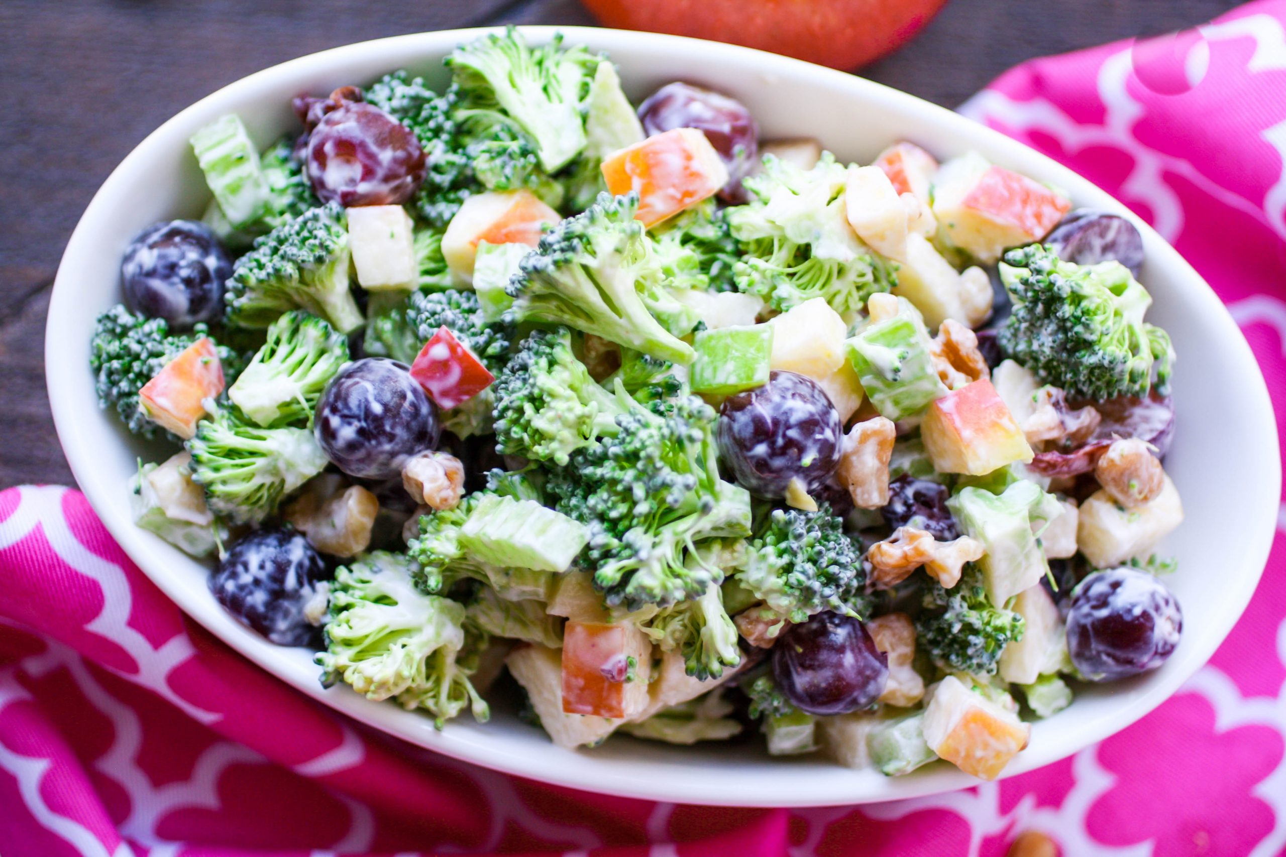 Check out all the goodies in this Broccoli Waldorf Salad!