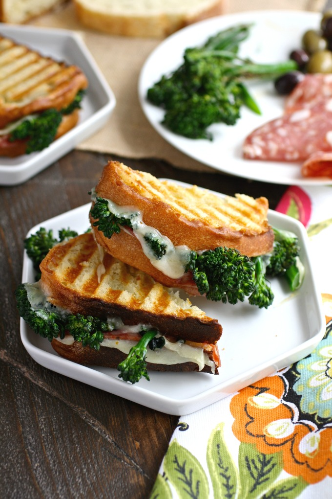 You'll love these hearty, tasty sandwiches! Try these Broccolini, Salami and Provolone Panini