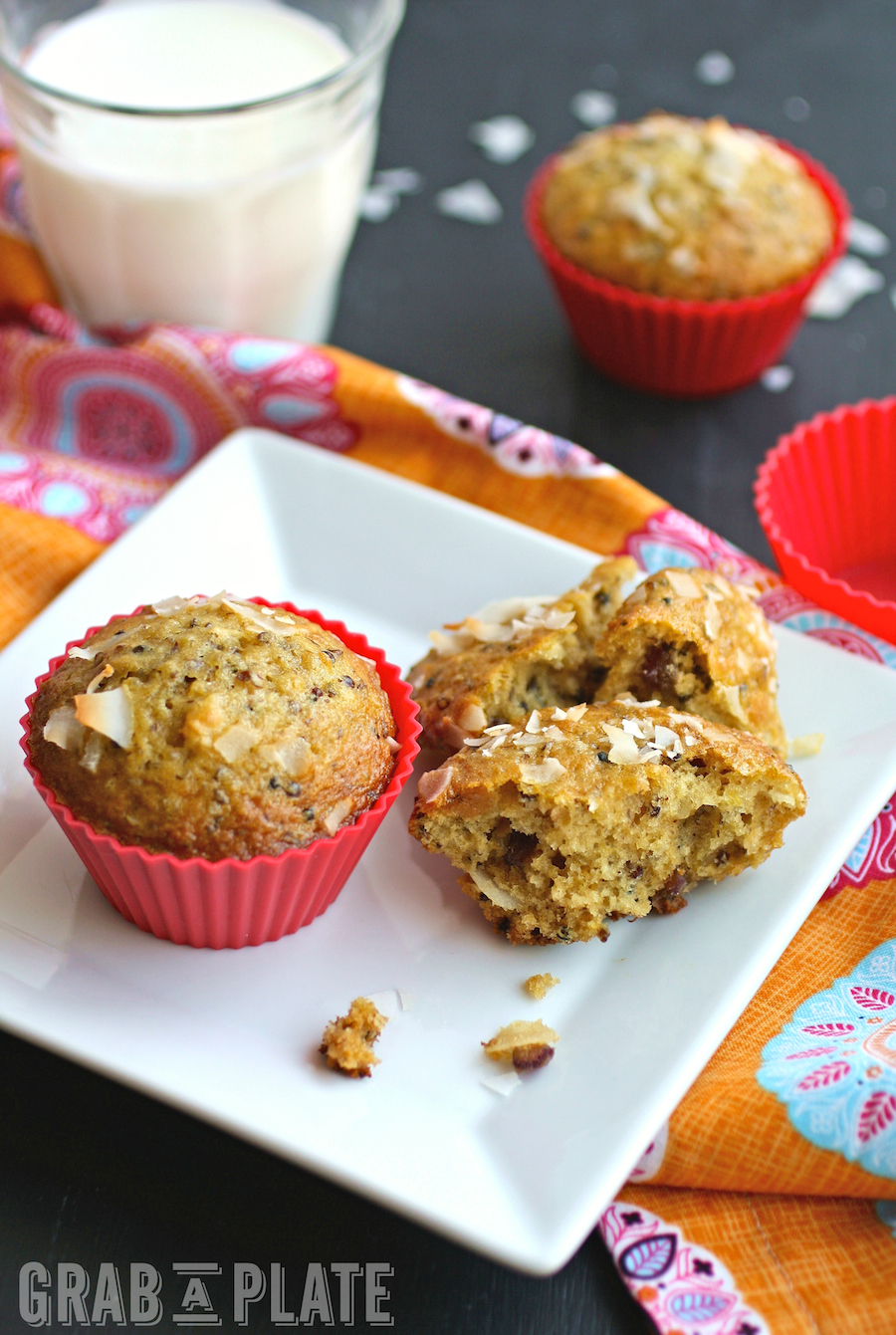 Quinoa, Coconut and Date Muffins are the perfect morning (and afternoon!) treat