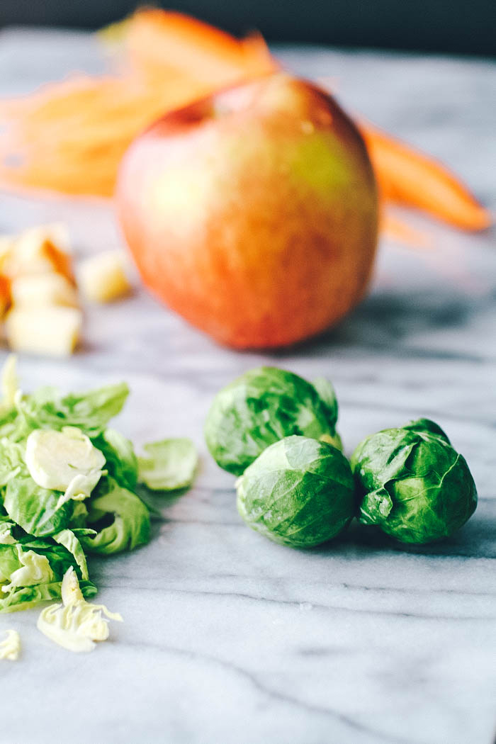 Brussels Sprouts Salad with Carrots, Apples, Pistachios & Poppy Seed Dressing is a delight! You'll love this Brussels Sprouts Salad with Carrots, Apples, Pistachios & Poppy Seed Dressing!