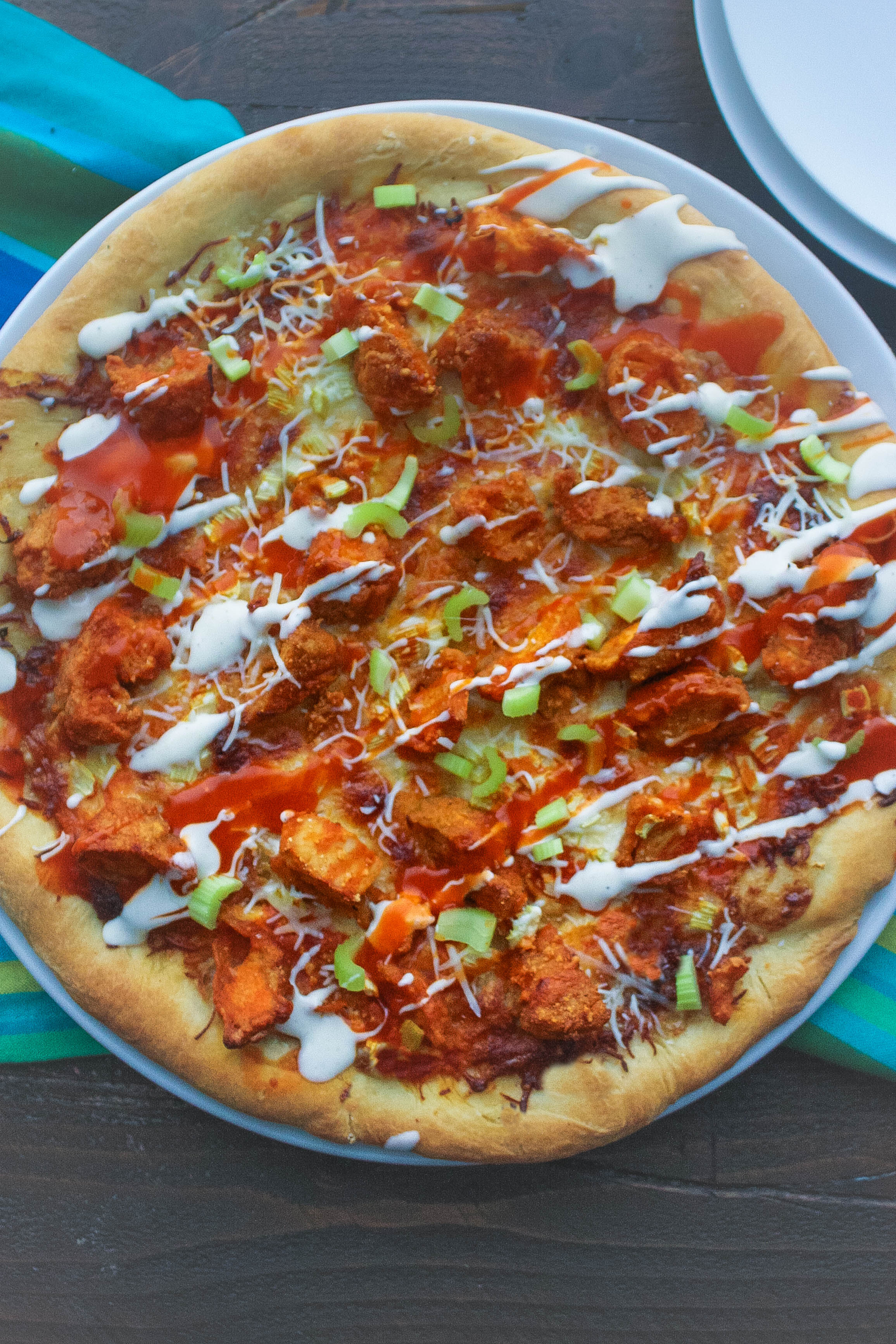 Buffalo Chicken Pizza is what you want to serve any night of the week! You can enjoy Buffalo Chicken Pizza anytime!