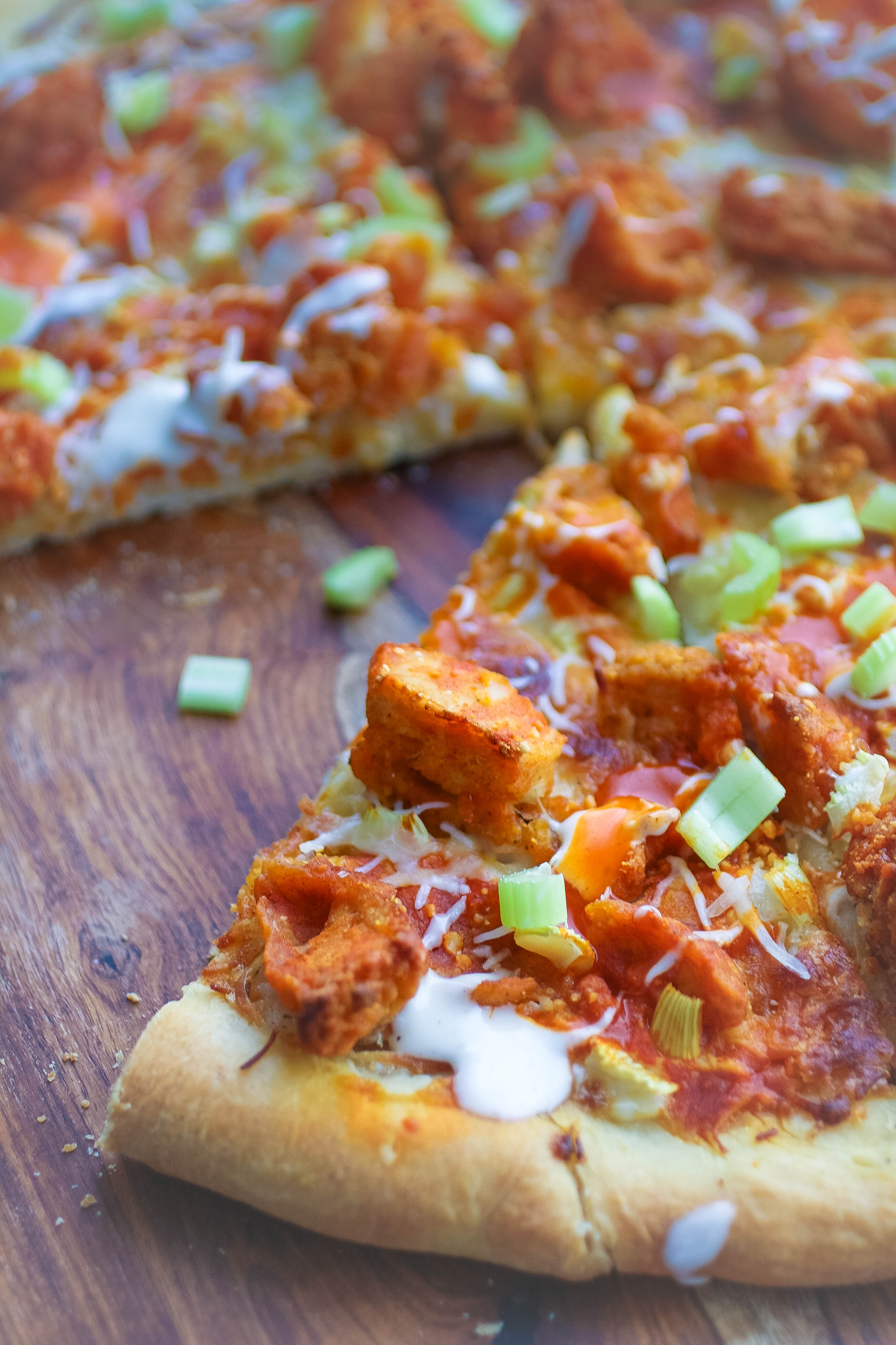 Buffalo Chicken Pizza is a pizza that will soon become a favorite in your house!
