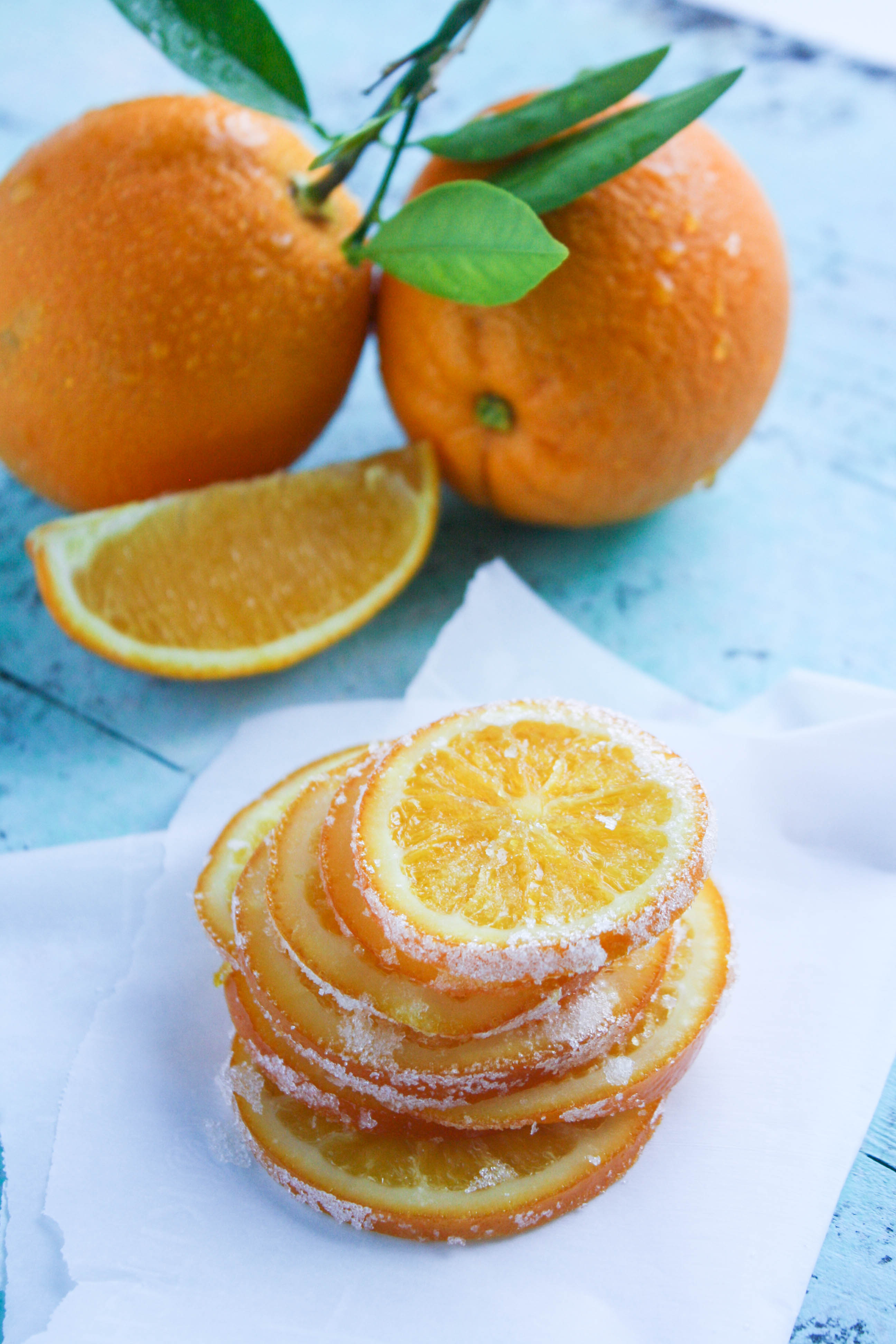 Candied Orange Slices are a fun and bright treat on a cold day! You'll love these orange treats any time of the day.