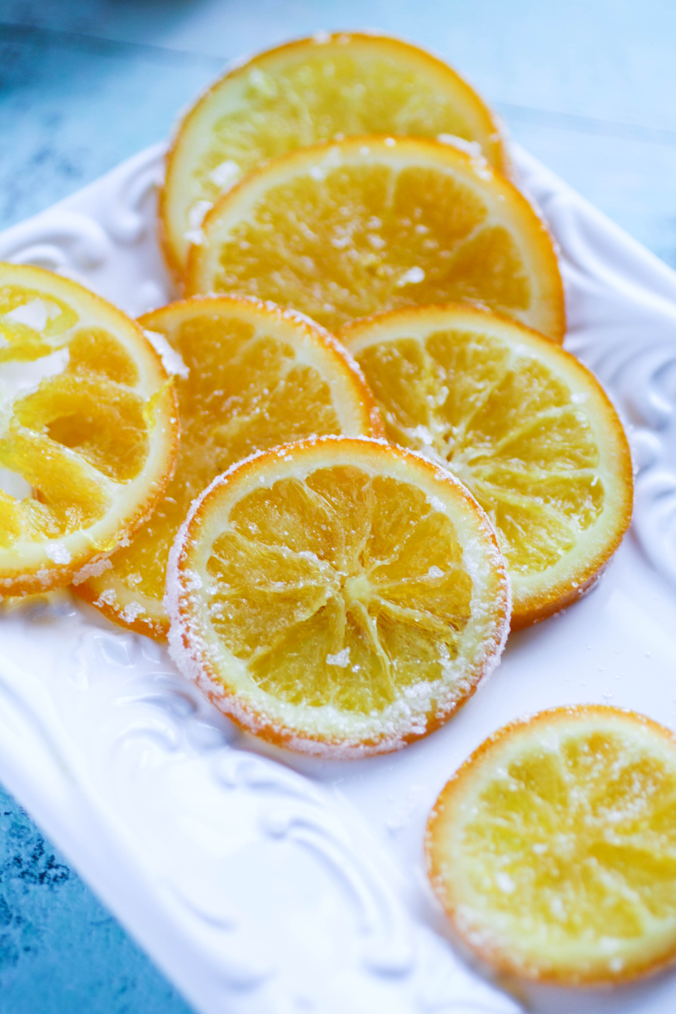 Candied Orange Slices are a lovely treat to brighten your day. Try these candied oranges to add brightness to your day!