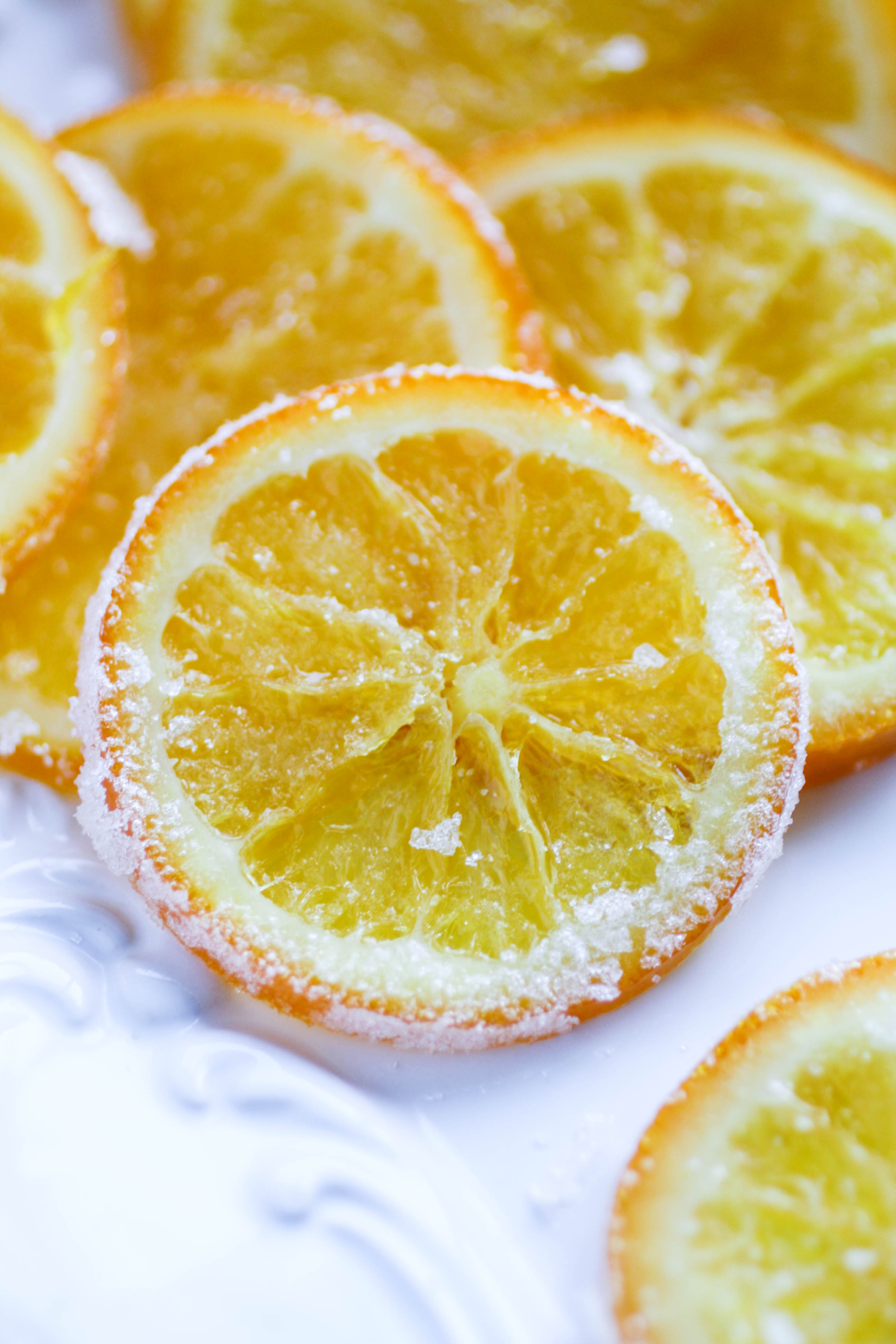 Candied Orange Slices are a treat that will brighten any day. You'll love the citrus vibe of these candied orange slices!