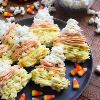 Candy Corn-Shaped Popcorn Treats are a fabulous Halloween treat! You'll love these Candy Corn-Shaped Popcorn Treats for festive fun treats!