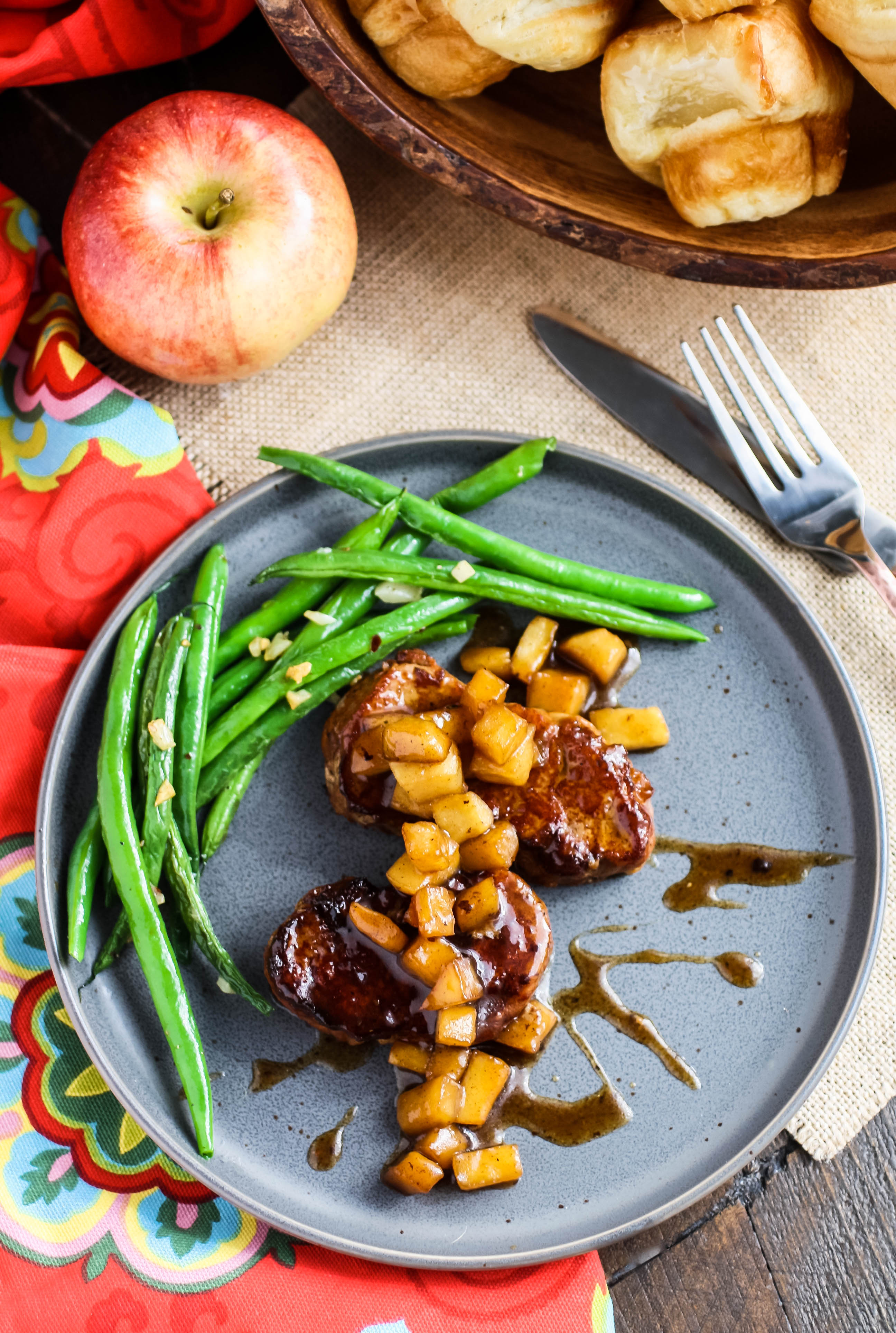 Caramel Apple Pork Medallions is a delightful dish. Caramel Apple Pork Medallions is an ideal meal option that's easy to make.