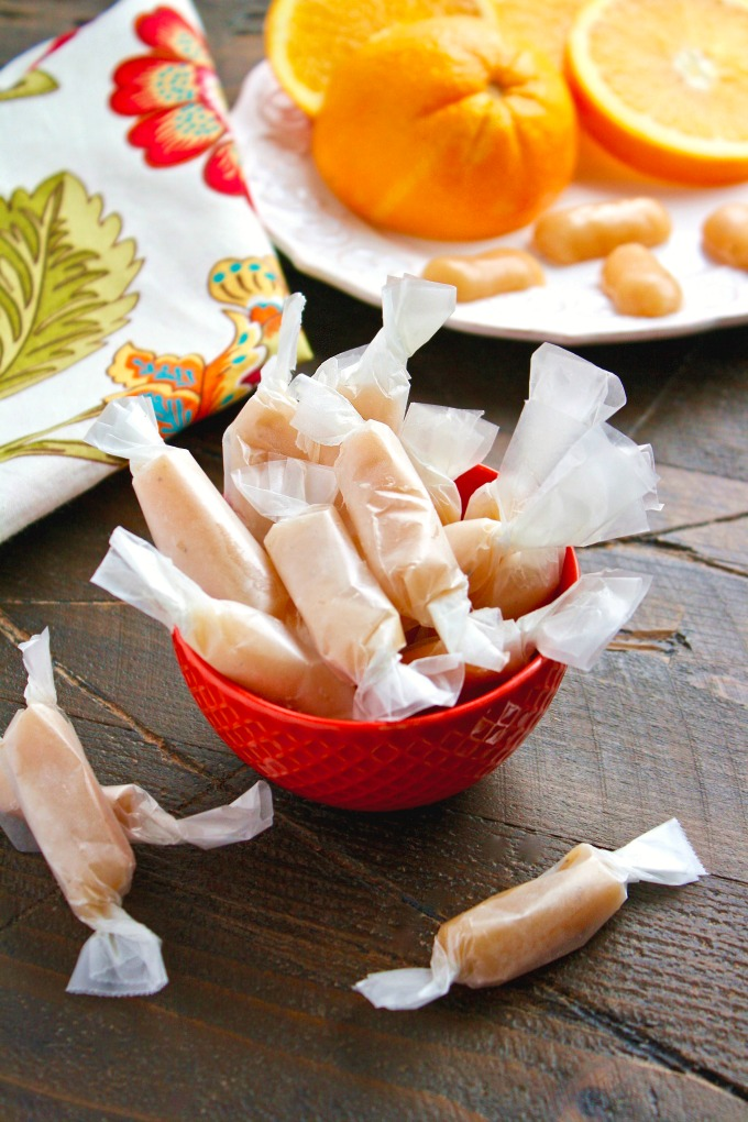 Homemade Cardamom-Orange Caramels are a fun holiday treat that also makes a great gift.