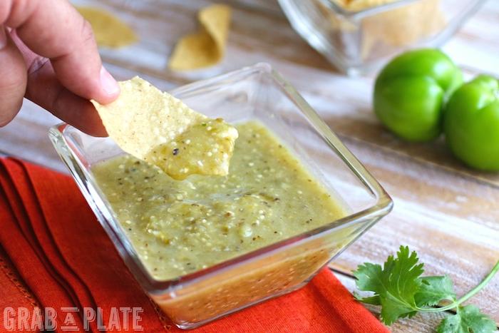 Dip into Roasted Tomatillo Salsa