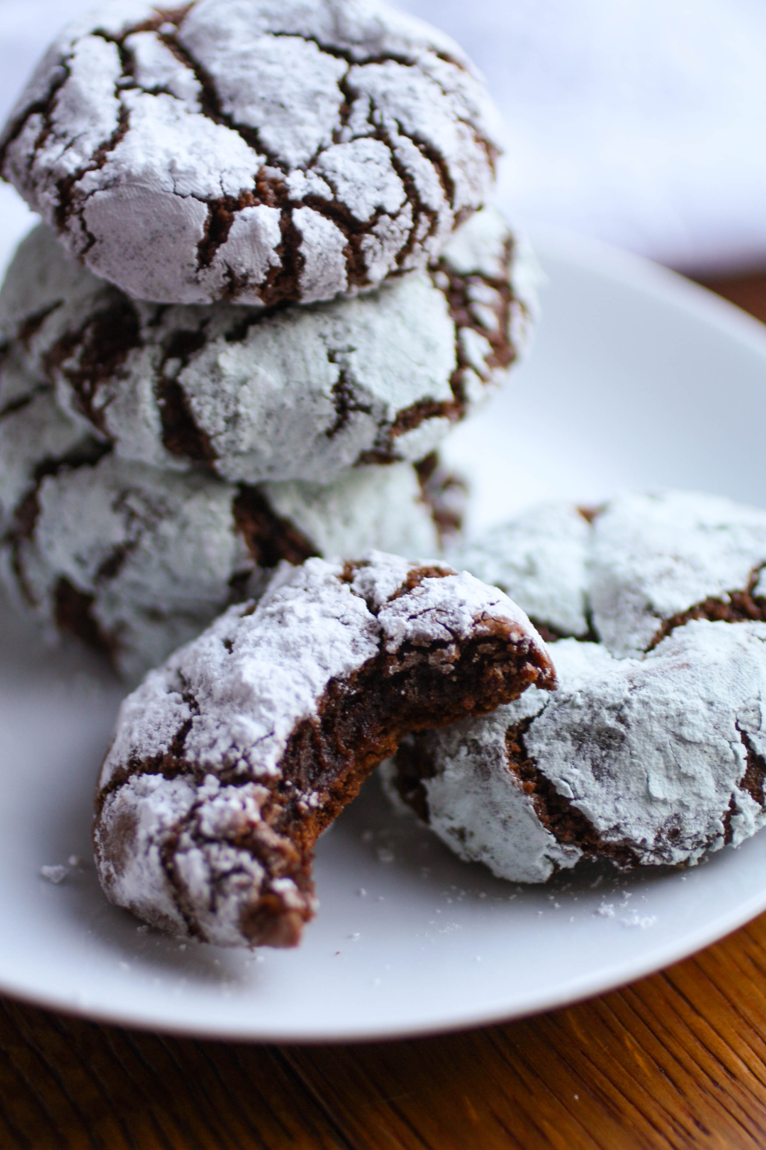 Chocolate-Chili Crinkle Cookies are fabulous cookie treats! You'll love the richness and bit of spice in these cookies!