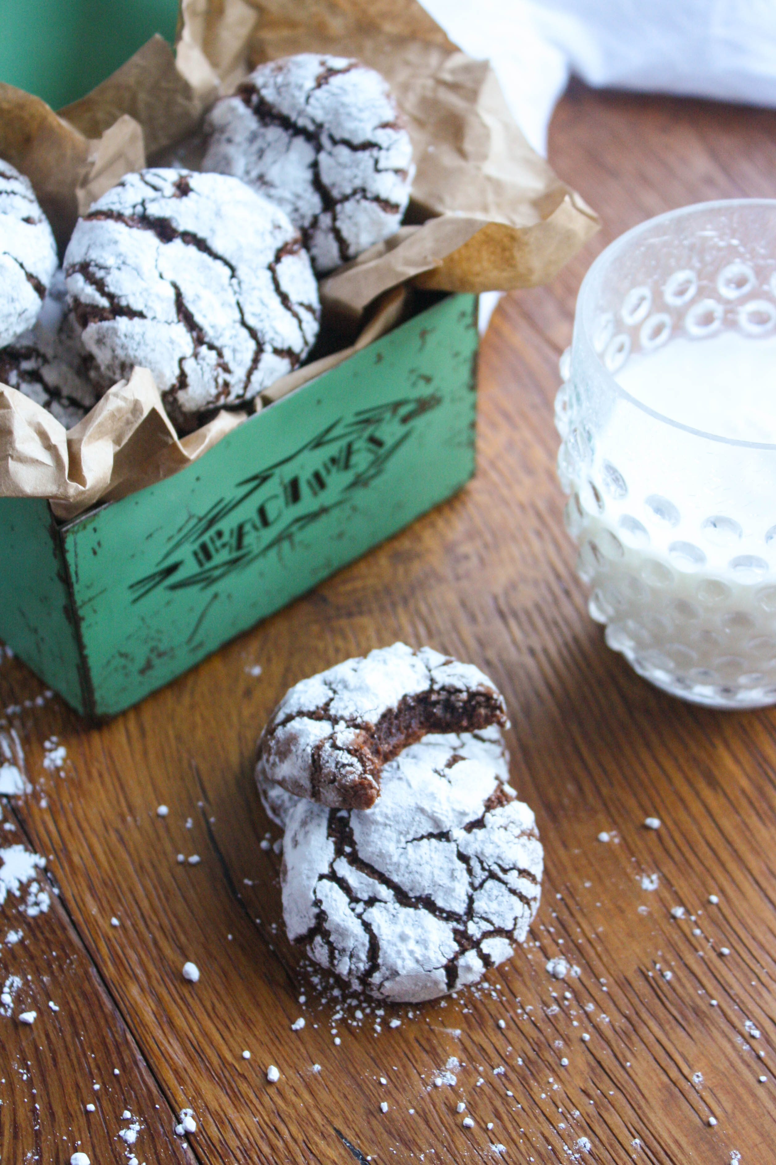 Chocolate-Chili Crinkle Cookies are the sort of cookies you'll want a few of! These cookies are pretty, and rich and chocolaty!