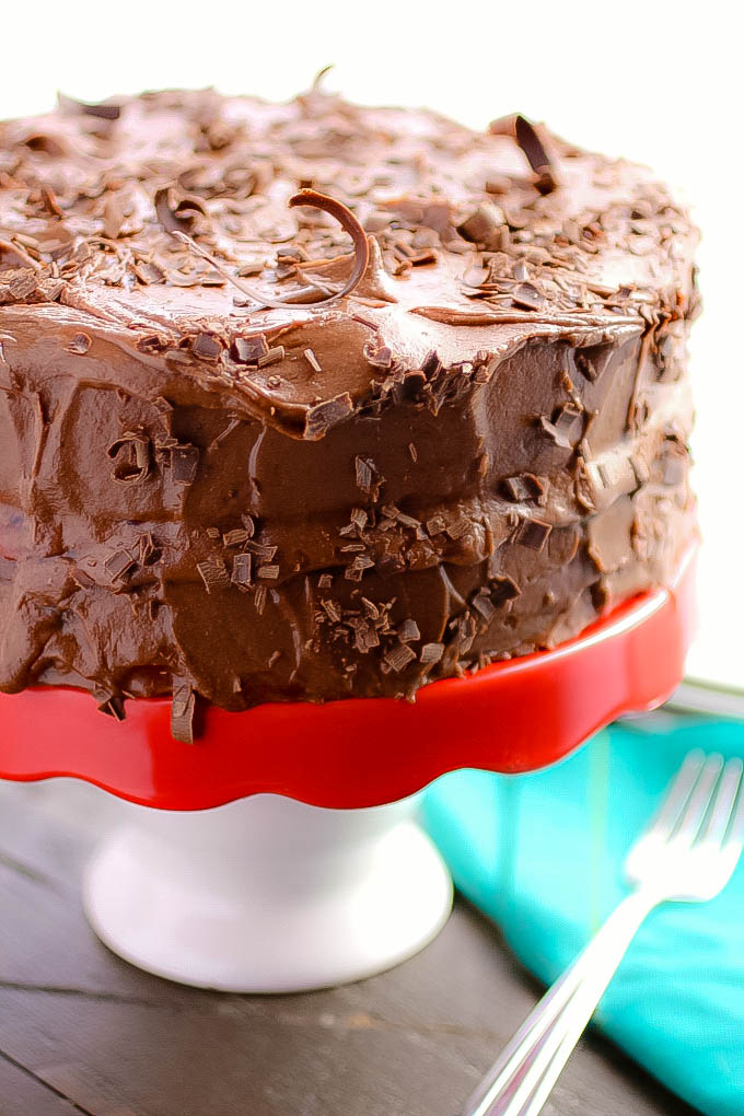 Chocolate Salad Dressing Cake with Cherries and Chocolate Buttercream Frosting is a treat you'll love! Chocolate Salad Dressing Cake with Cherries and Chocolate Buttercream Frosting is perfect for any special occasion dessert.