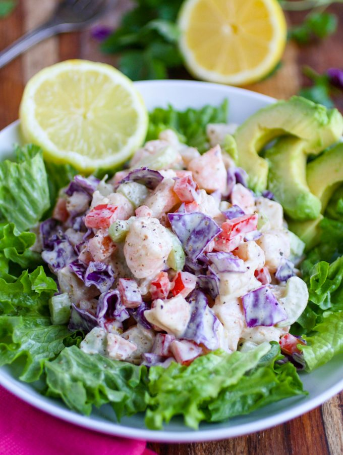 Chopped Shrimp Remoulade Salad is vibrant and tasty. Chopped Shrimp Remoulade Salad is a great dish to serve this winter!