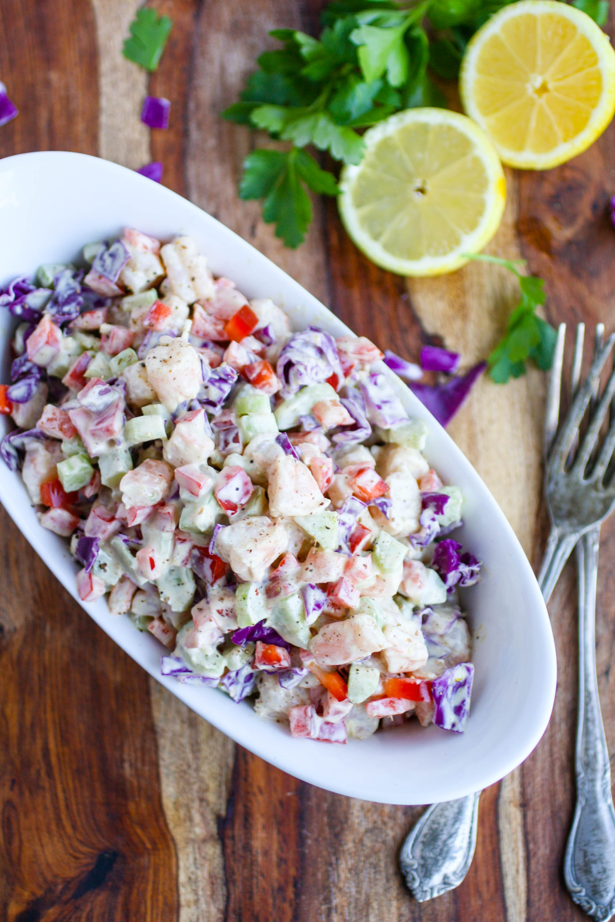 Chopped Shrimp Remoulade Salad is ideal for a flavorful and filling salad. Chopped Shrimp Remoulade Salad makes a great meal any season.