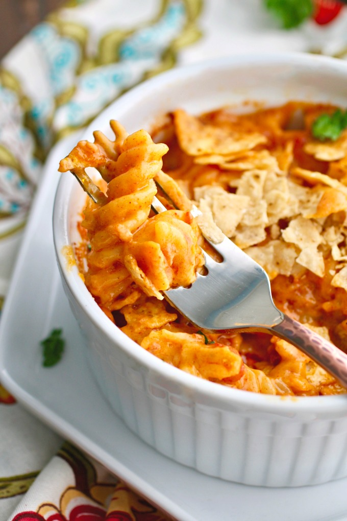 You'll want to dig right in to a dish as delicious as Chorizo Mac and Cheese!