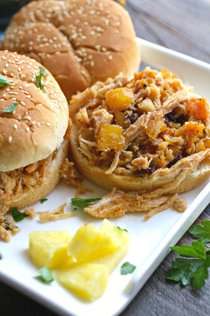 Dig in! These Smoky Chicken Sandwiches with Chipotle Orange Pineapple Sauce are amazing!