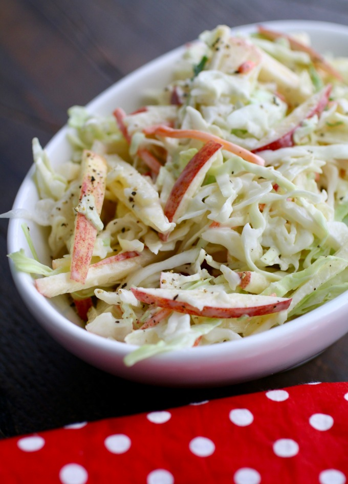 Top your sandwich with Creamy Cabbage-Apple Slaw, or serve it on the side. But don't leave it out!
