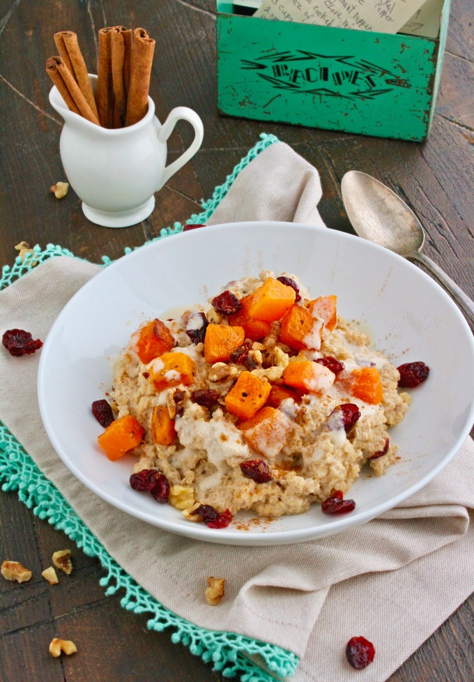 Looking for a hearty breakfast? Try Creamy Breakfast Quinoa with Roasted Butternut Squash -- it makes a great start to your day!