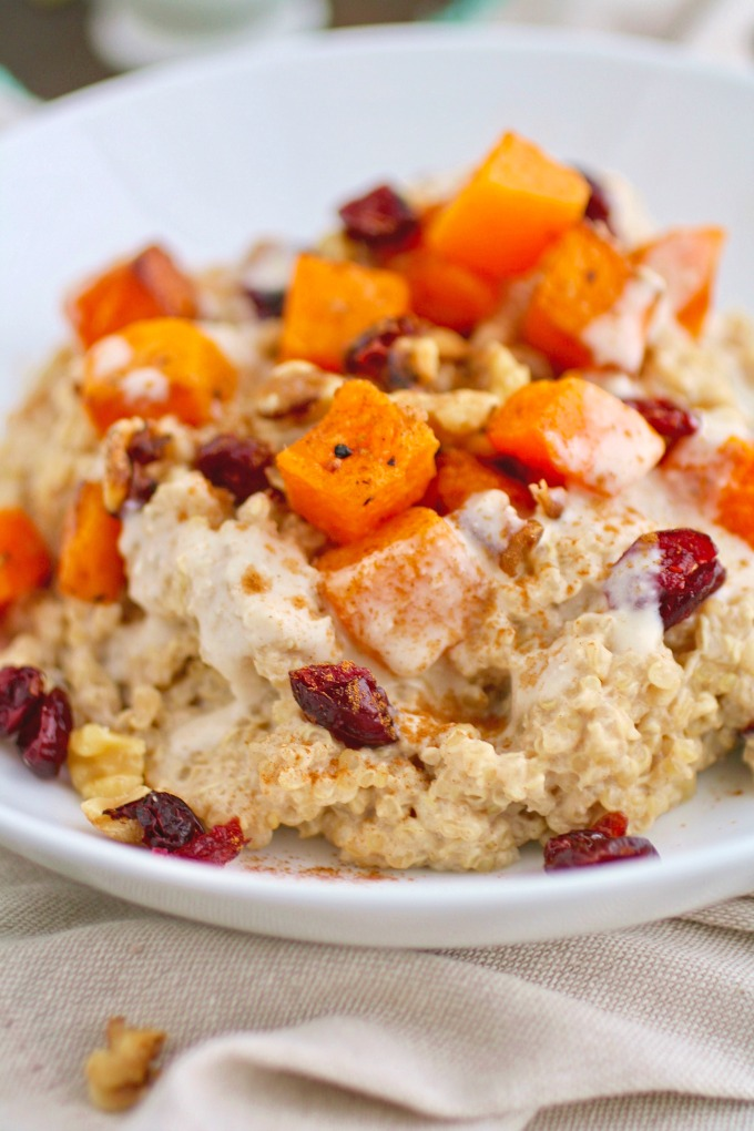 For a hearty breakfast, try Creamy Breakfast Quinoa with Roasted Butternut Squash.