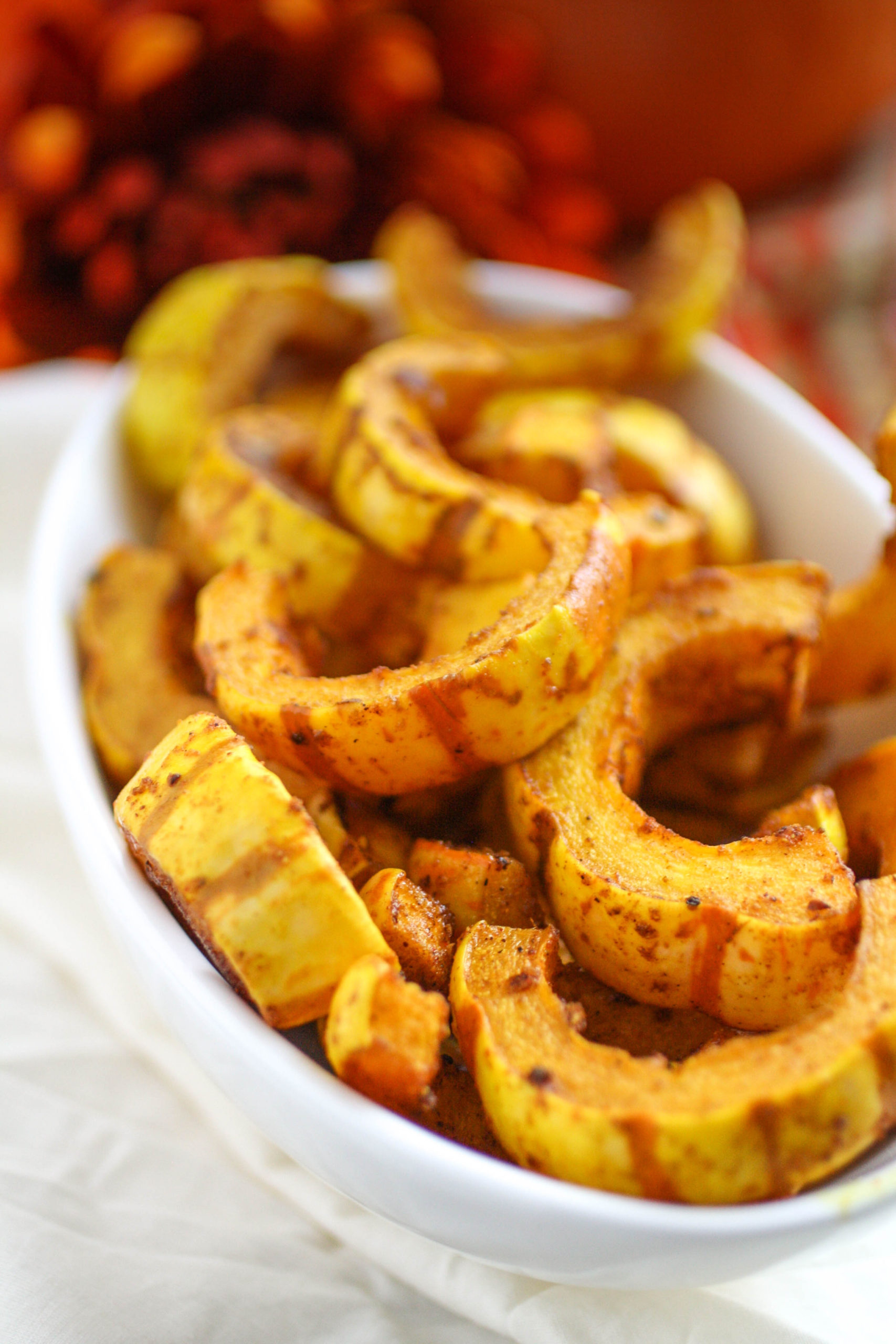 Curry-Roasted Delicata Squash is a fabulous side dish to serve this season!