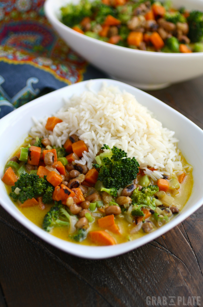 Sweet Potato & Black-Eyed Pea Curry is a fabulous Meatless Monday meal. And so easy to make, too!