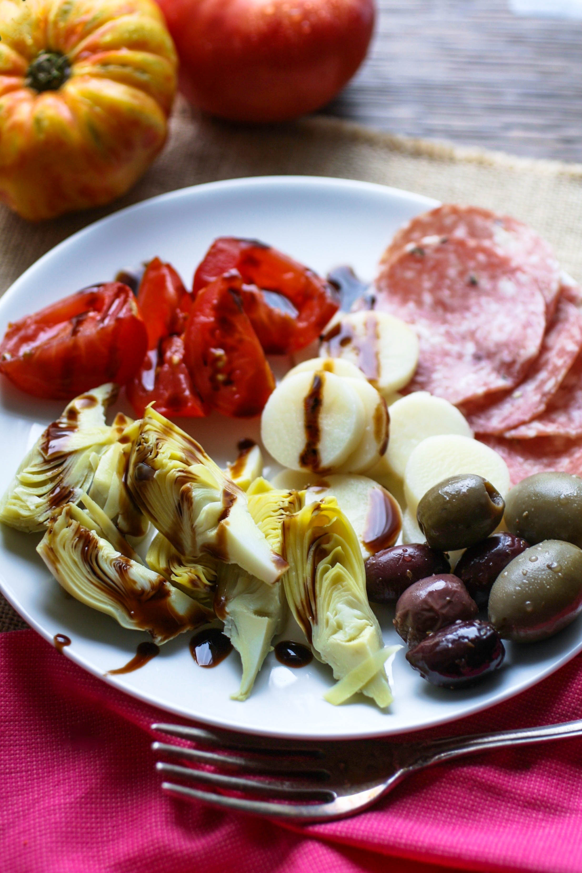 An Easy Antipasto is a welcome way to start your meal. It's simple to make, and fun to serve.