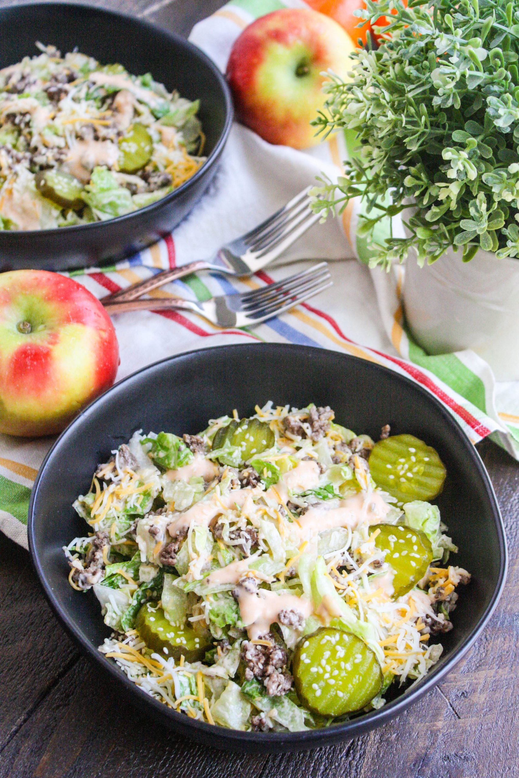 "Easy ""Big Mac"" Salad is a fun dish to serve when you're craving fast food!"