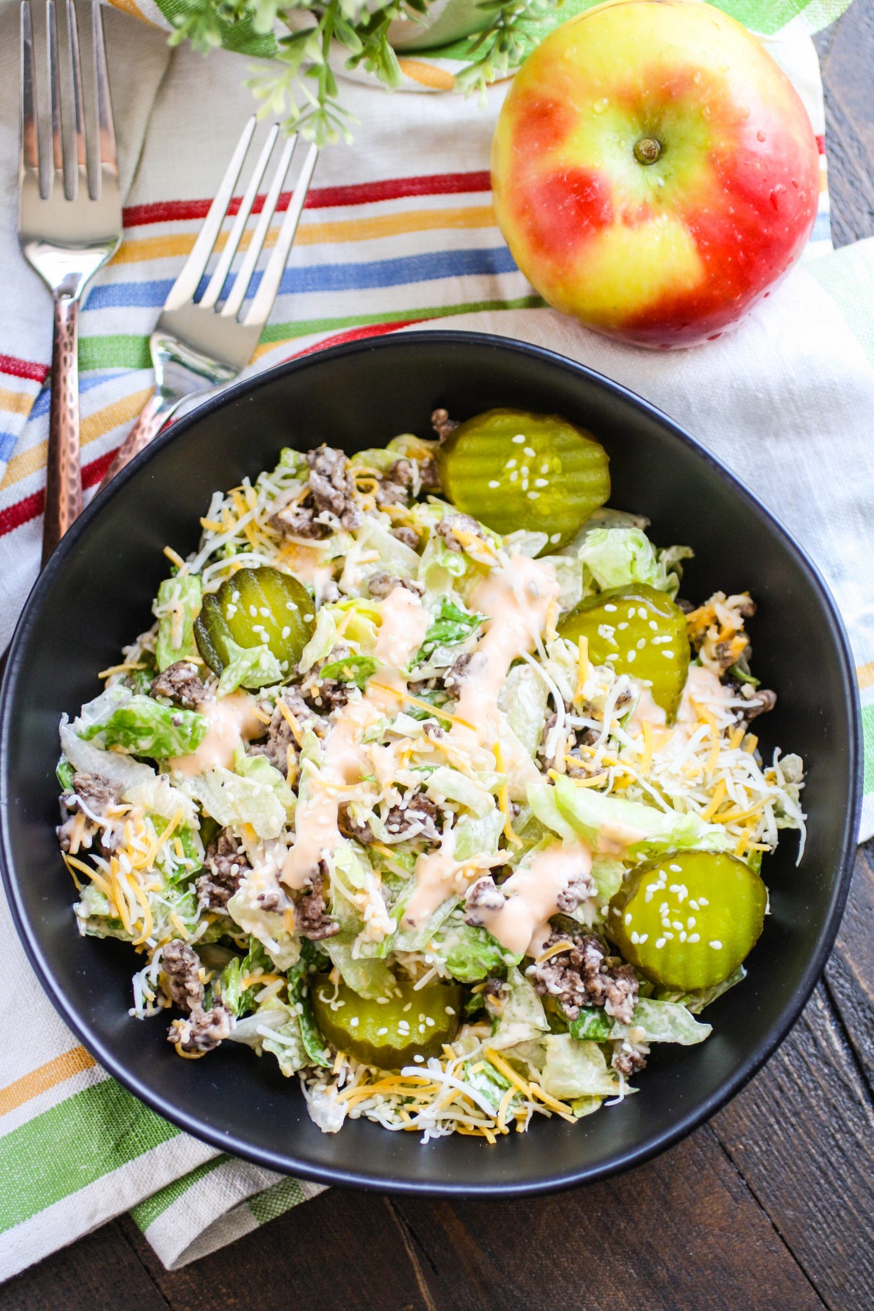 "Easy ""Big Mac"" Salad is easy to make and you probably have all the ingredients!"