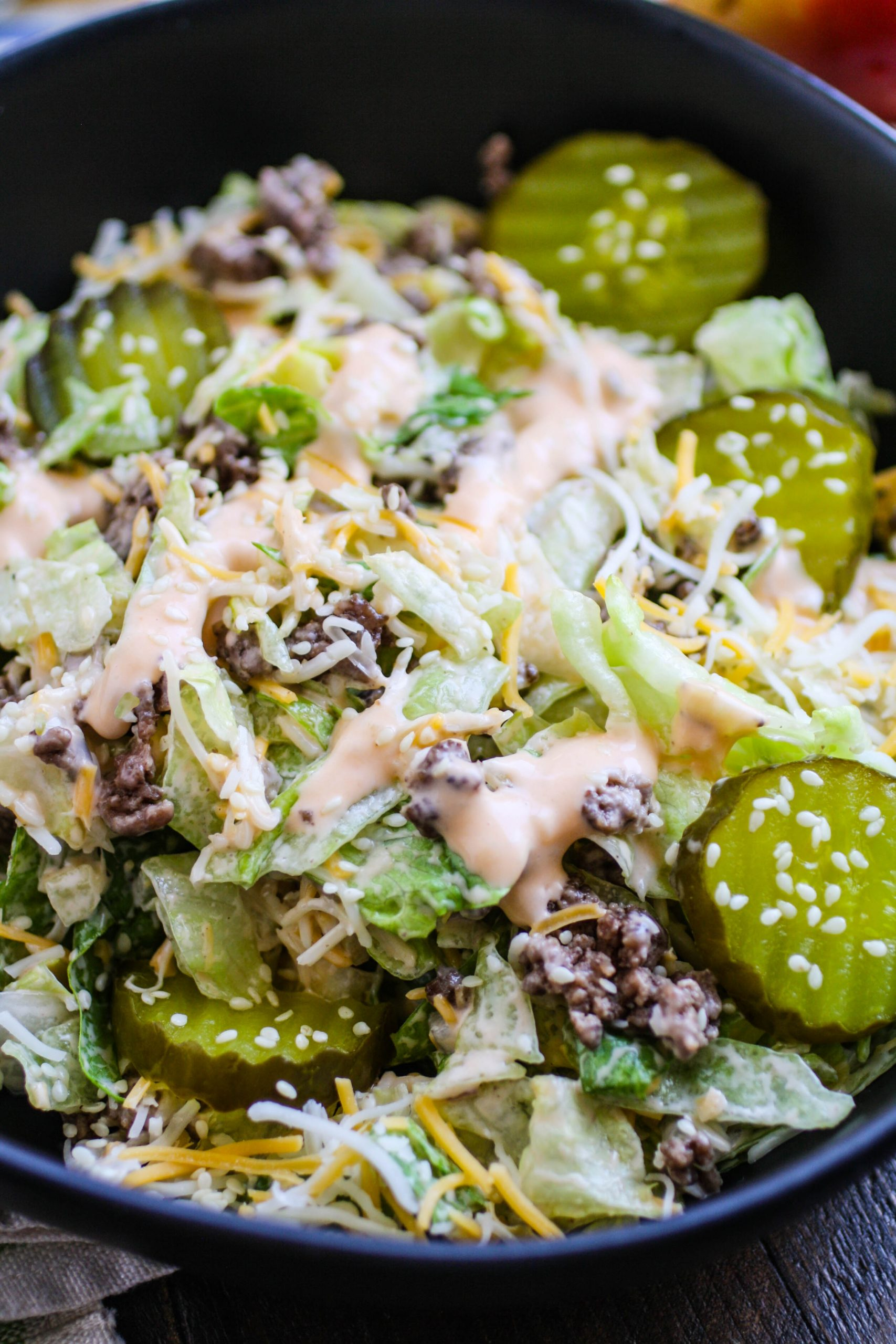 "Easy ""Big Mac"" Salad will satisfy your cravings with great flavor!"