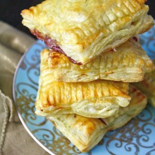 Take one or two of these Easy Brie and Cherry Puff Pastry Squares!