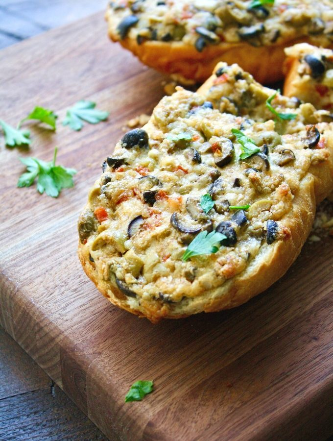 Easy Cheesy Olive Bread