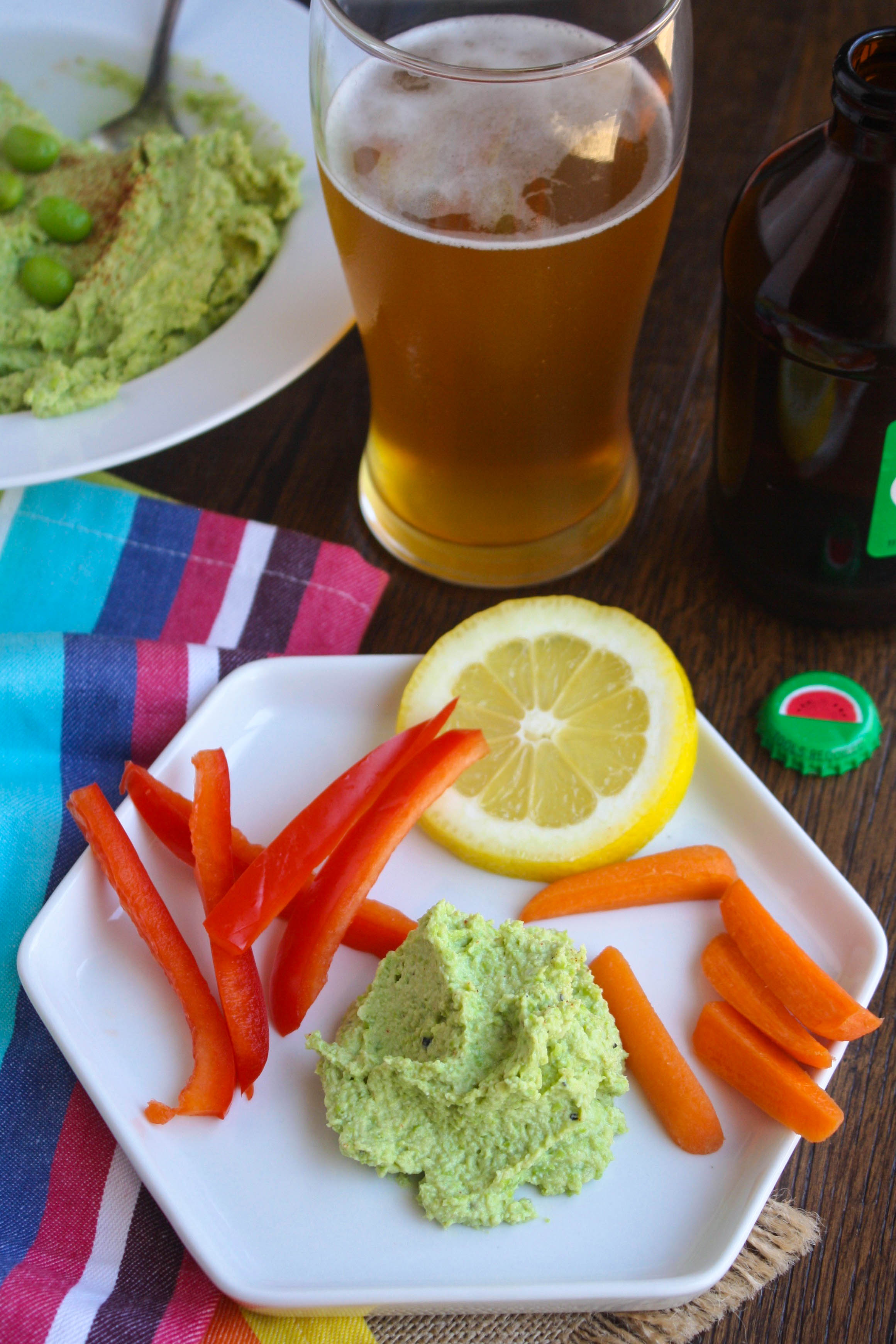 Easy Edamame-Pea Dip is perfect for the summer. It's bright color and fab flavor is perfect to serve at your next party.